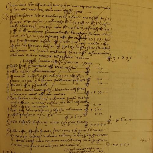 Compte d'un achat de soie au Levant (1509)
